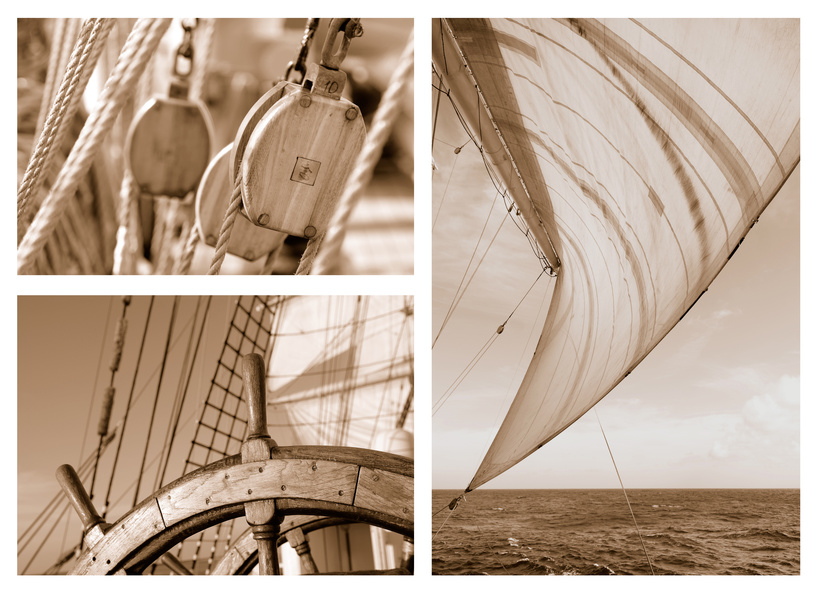 Ropes and Rigging on a sail ship