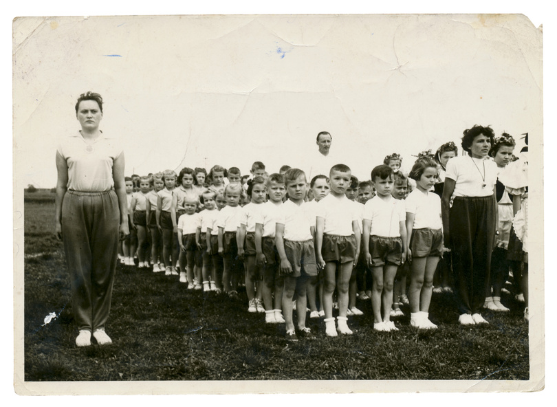 CIRCA 1950 - children in the exercise